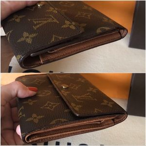 Louis Vuitton Bags - Louis Vuitton Brown Monogram Trifold Wallet Vintag